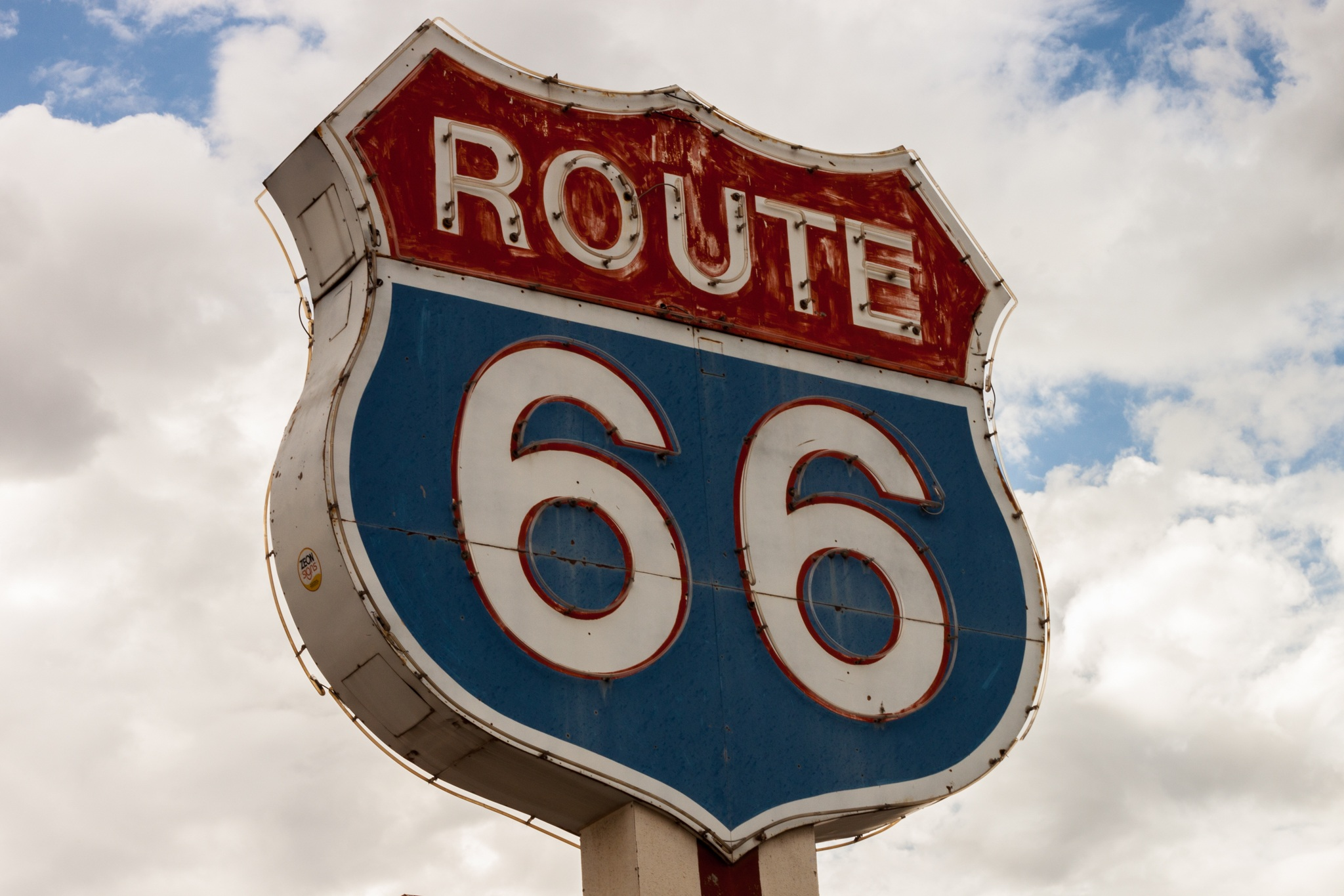 route 66, sign, highway